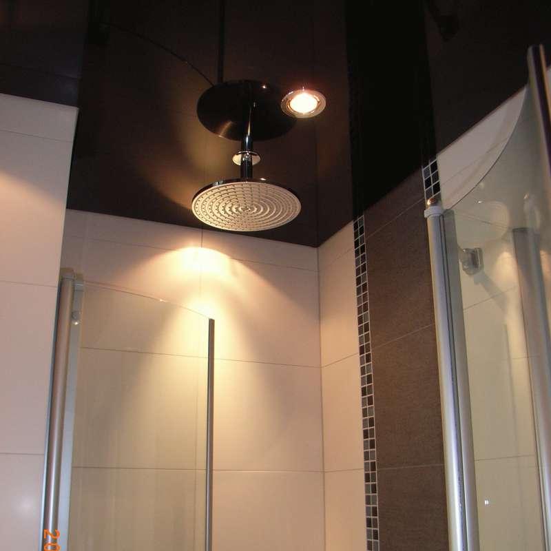 Duschnische mit Einbauspot und Duschtasse