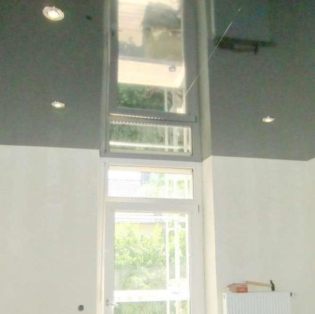 Lackspanndecke Küche mit Fensterniesche